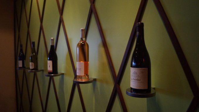 Wanddekoration in der Weinwirtschaft