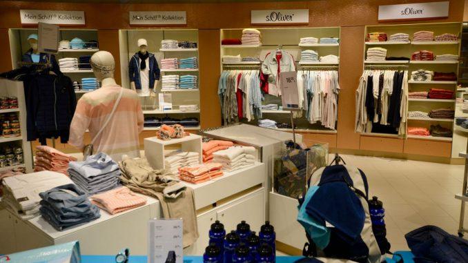Die Shops öffnen erst nach dem Ablegen