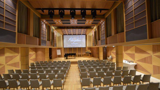 Das Klanghaus ist ein Konzertsaal auf See