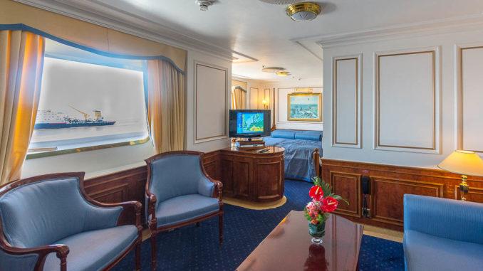 Kabine 8001: eine der größten Suiten an Bord mit Balkon