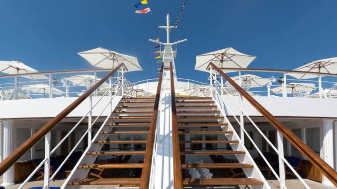 Die berühmte Treppe aus dem ZDF-Traumschiff