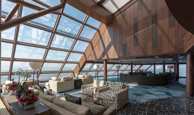 Die Horizon Lounge bietet einen Panoramablick