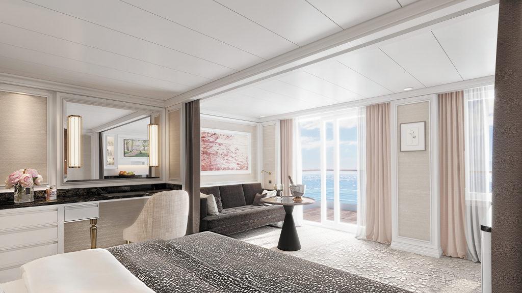 So soll eine Concierge Lounge der Seven Seas Splendor aussehen. Foto: Regen Seven Seas Cruises