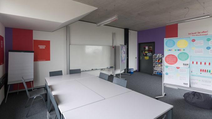 Der studiengangseigene Lernraum - perfekt für die vielen Gruppenarbeiten