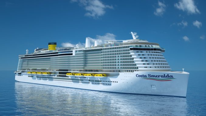 Die Costa Smeralda soll im Oktober 2019 abgeliefert werden. Grafik: Costa Crociere