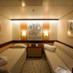 Eine Zweibett-Innenkabine der MS Astor