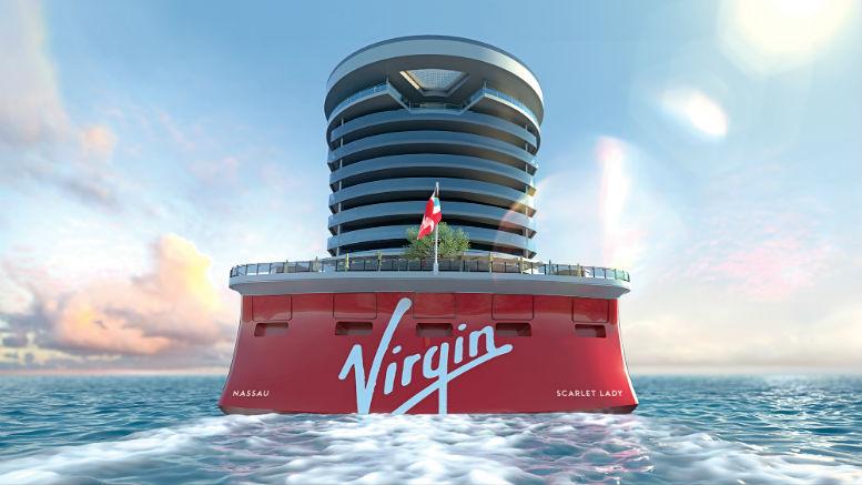 Die Heckansicht der Scarlet Lady. Grafik: Virgin Voyages