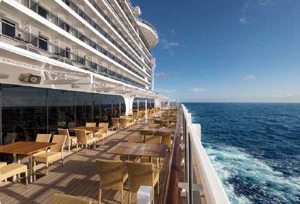 Der Waterfront Boardwalk der Seaside-Klasse. Grafik: MSC Kreuzfahrten