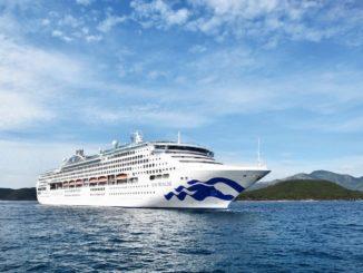 Die Sun Princess mit der neuen Bugbemalung. Foto: Princess Cruises