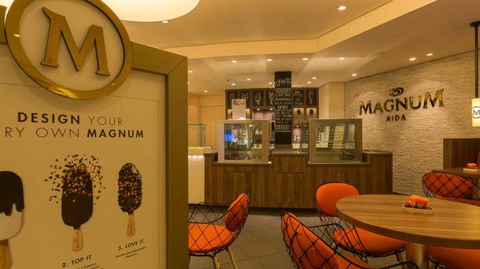 Magnum Eis an Bord der AIDAperla