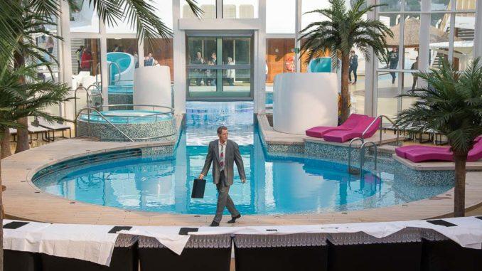 Der Pool im Beach Club der AIDAperla