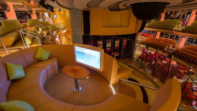 Sitzecke im oberen Bereich des Theatriums