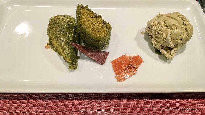 Unsere köstliche Nachspeise beim Teppanyaki