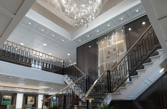 Es funkelt im renovierten Grand Staircase. Foto: Oceania Cruises