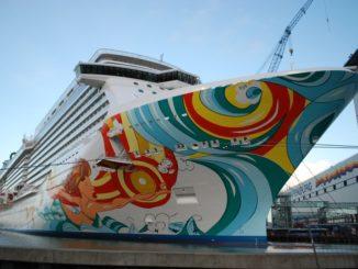 Die Norwegian Getaway in Hafen der Meyer Werft. Foto: Christoph Assies