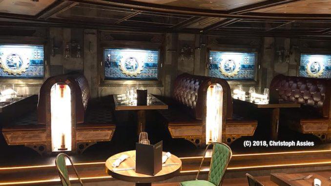 Das Time Machine Restaurant der AIDAnova. Foto: Christoph Assies