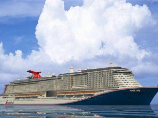 Carnival Mardi Gras wird der Neubau von Carnival Cruise Line heißen. Grafik: Carnival Cruise Line