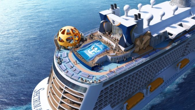 Das Sky Pad am Heck der Spectrum of the Seas. Grafik: Royal Caribbean