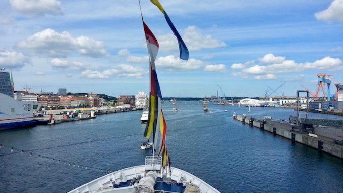 Während der Kieler Woche an Bord der MS Astor
