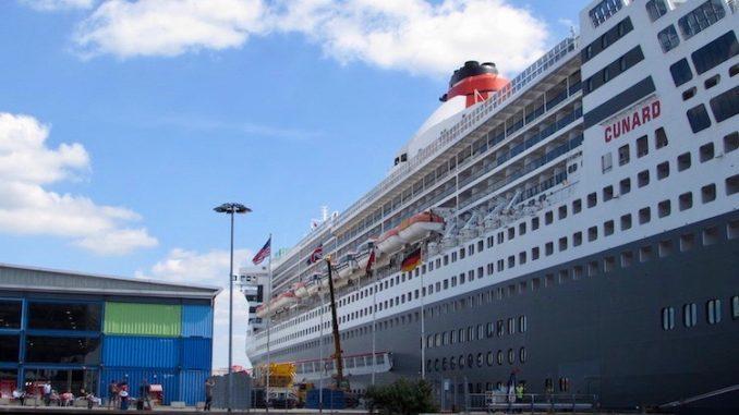So sieht es aktuell am Cruise Center HafenCity aus.