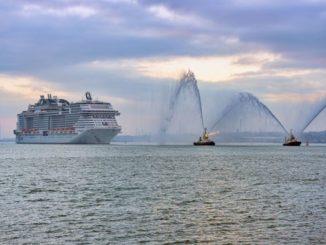 Die MSC Bellissima läuft in Southampton ein. Foto: MSC Cruises