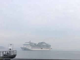 MSC Meraviglia beim Erstanlauf in Kiel