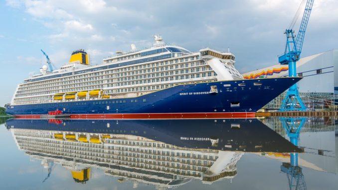 Spirit of Discovery im Werfthafen