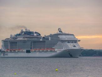 MSC Meraviglia auf der Kieler Förde