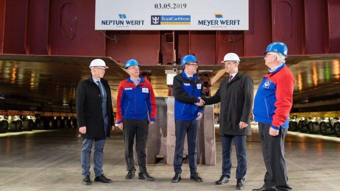 Kiellegung der Odyssey of the Seas. Foto: Meyer Werft