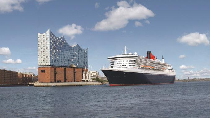 Die Queen Mary 2 in Hamburg. Foto: Cunard
