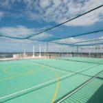 Sportplatz am Heck der Norwegian Pearl