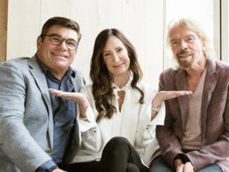 Wendy Williams zwischen Tom McAlpin und Richard Branson. Foto: Virgin Voyages