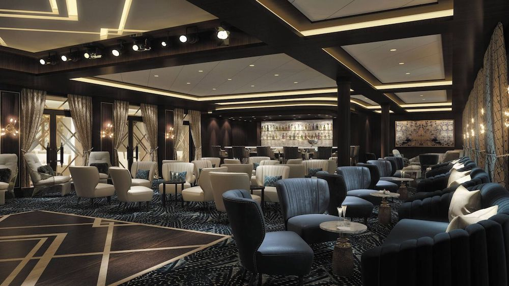 Die Splendor Lounge an Bord der Seven Seas Splendor. Grafik: Regent Seven Seas