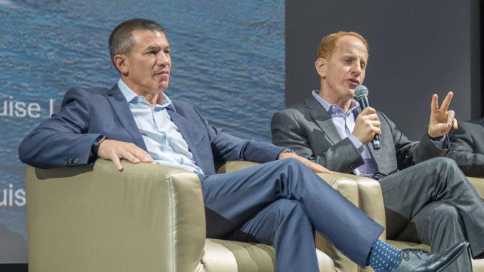 Andy Stuart (links) und Harry Sommer auf der Norwegian Bliss