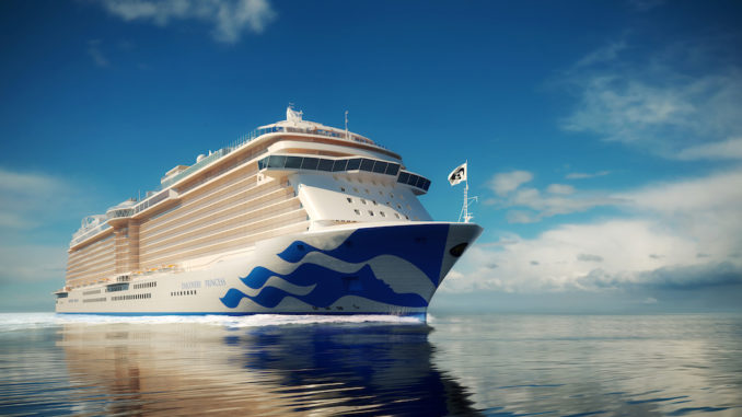 Das sechste Schiff der Royal-Klasse heißt Discovery Princess. Grafik: Princess Cruises