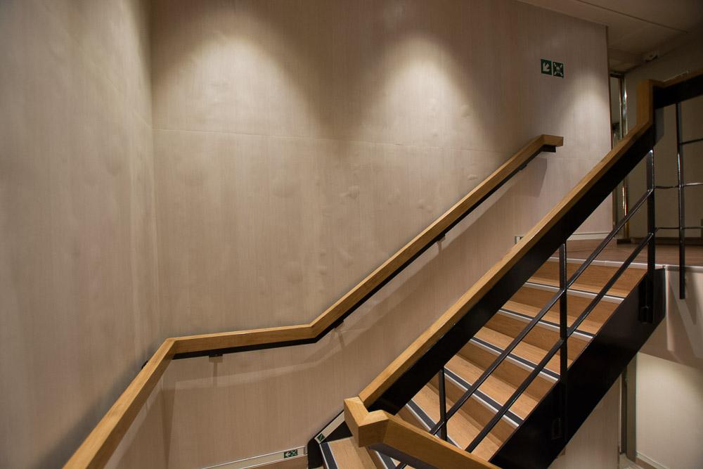 Verarbeitung der Treppenhäuser