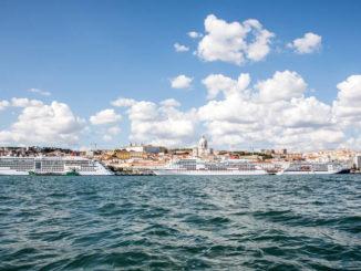 Hapag Lloyd Schiffstreffen in Lissabon. Foto: Susanne Baade/ Hapag Lloyd Cruises