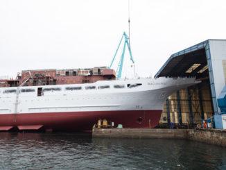 Die Sea Cloud Spirit läuft vom Stapel. Foto: Sea Cloud Cruises