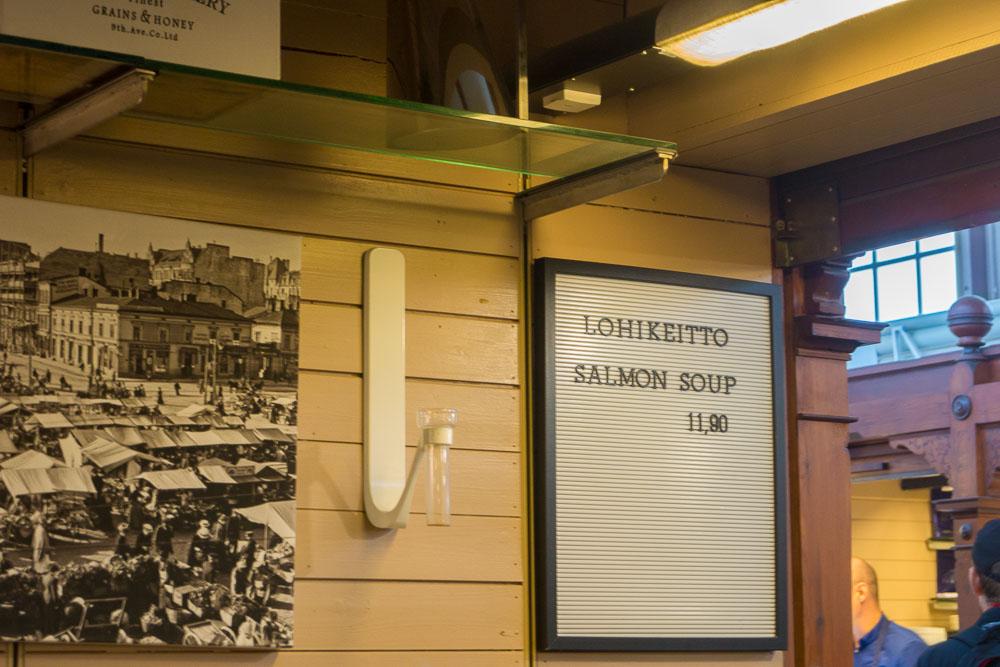 Angebot in der finnischen Markthalle
