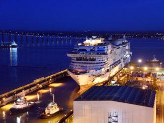 Aufschwimmen der MSC Virtuosa. Foto: MSC Cruises
