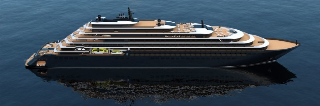 Die Schiffe der Ritz Carlton Yacht Collection. Grafik. Ritz Carlton