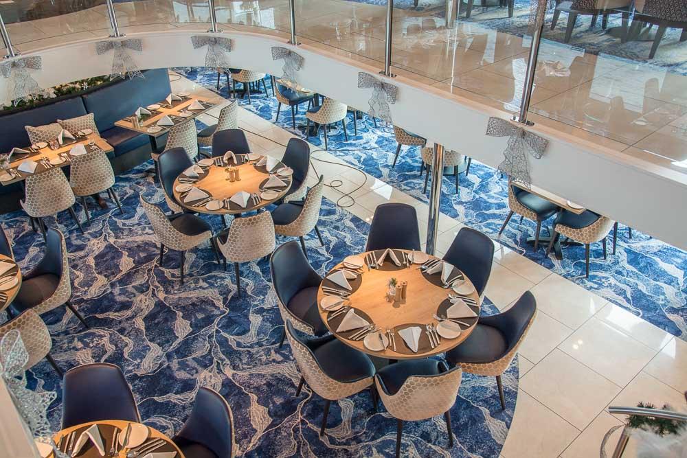 Blick von Salon in das VISION Restaurant