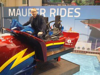 Torsten Schmidt von Maurer Rides nimmt schon mal Platz auf Bolt. Foto: Maurer Rides
