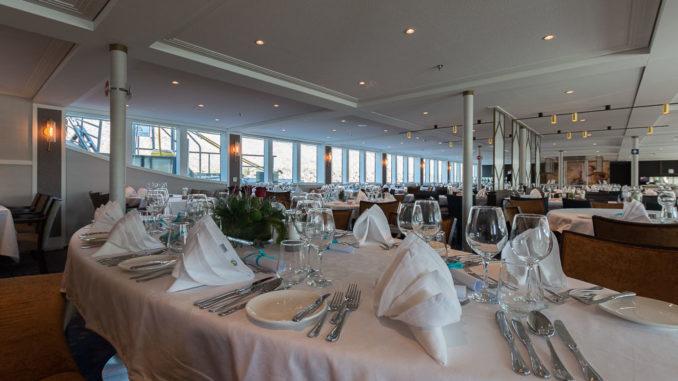Blick in das Hauptrestaurant der Lady Diletta