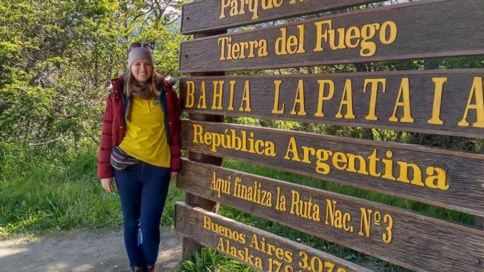 Sarah im Dienst auf einem Ausflug in Argentinien. Foto: Sarah Pingel