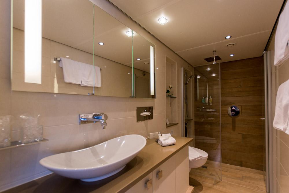 Unser Bad in der Master Suite