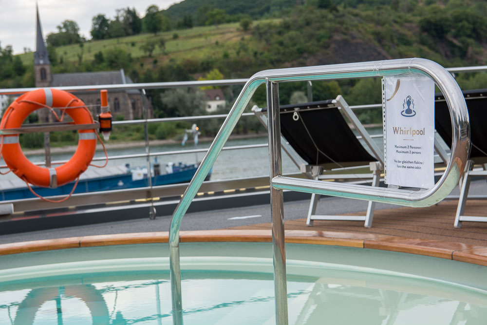 Sogar der Whirlpool kann zu Coronazeiten genutzt werden