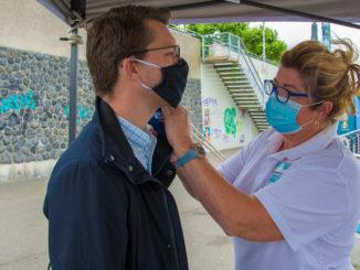 Das Fiebermessen vor dem Check-In ist Pflicht und wurde täglich wiederholt