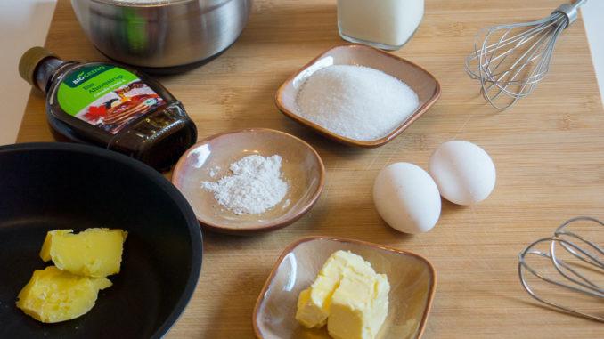 Zutatenübersicht für die AIDA Pancakes