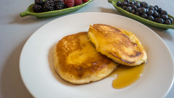 Frische Pancakes zum Frühstück schmecken immer gut!